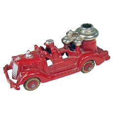 Signed Hubley Iron and Nickel Fire Pumper Toy - Near Mint