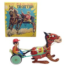 Trotting Race Horse Wind-up Toy - Mint in box
