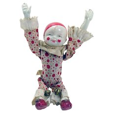 Celluloid Tumbling Clown Wind-up Toy - Japan