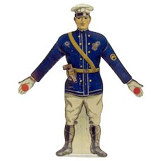 Tin Painted Soldier Mechanical Weight-Driven Arms
