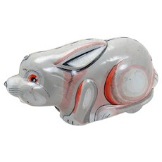 Tin Rabbit Wind-up Toy - Japan
