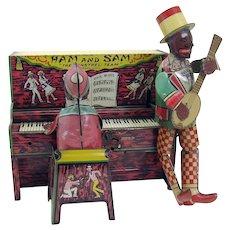 Strauss Tin Ham and Sam Minstrel Wind-up Toy