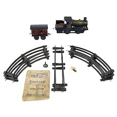 Bing Live Steam Train and Track Toy Set with Instructions - Early 1900's