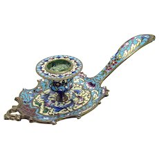 Champleve Single Candle Holder - 1910