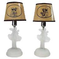 Art Deco Figural Boudoir lamps - 1920's