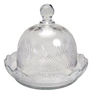 Cut Glass Cheese Dish - 1910