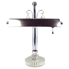 Chrome and Glass Desk Lamp - 1940's