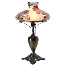 Victorian Gas Portable Table Lamp - 1890's