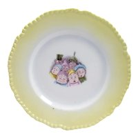 Palmer Cox Brownies Porcelain Plate with Seven Figures - 1900's