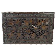 Carved Black Forest Walnut Dresser Box - 1890's