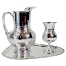 Three-piece Silver Plated Pairpoint Set - 1890's