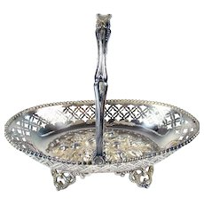 Silver Plated Repousse Fruit Bowl - 1879