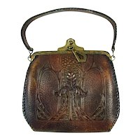 Arts and Crafts Leather Purse - 1920's