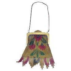 Art Deco Colorful Mesh Bag / Purse - 1920's
