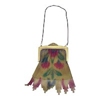 Art Deco Colorful Mesh Bag / Purse - 1920's