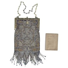 French Steel Beaded Bag - 1920's