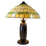 Charles Parker Leaded Electric Table Lamp - 1920's