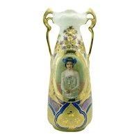 E.S. Germany Porcelain Portrait Vase - 1902