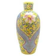 Opaque Raised Enameled Loetz Glass Vase - 1890's