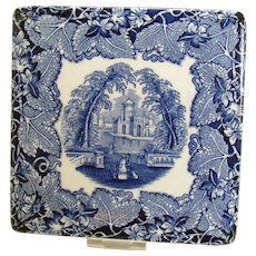Mason's Blue-on-White Ceramic Hot Plate