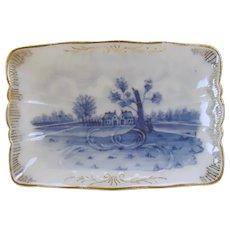 Blue on White Porcelain German Pin Tray