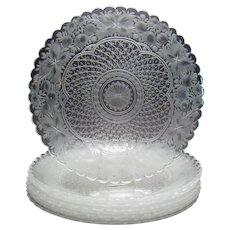 Set of Nine Cut Glass Plates - Lobmyr