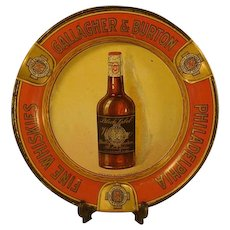 Gallagher & Burton Black Label Whiskey Ashtray