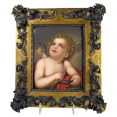 Large Hand Painted German Porcelain Plaque KPM - 1880's