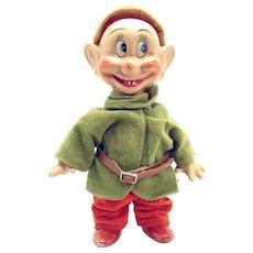 Knickerbocker Walt Disney Dopey Composition Doll - Near Mint