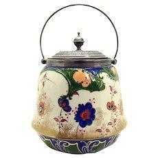 Doulton Burslem Porcelain Biscuit Jar