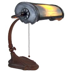 Miller Reverse-Painted Electric Desk Lamp - 1920's