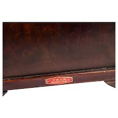 Chinese Jewelry Box with Inlaid Jade Panels