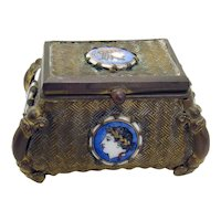 Bronze/Brass Trinket Box - 1870's