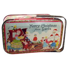 Christmas Candy Tin - 1920's