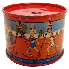 Ohio Art Tin Drum Bank