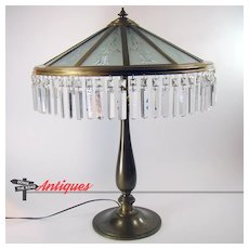 Huge Bradley & Hubbard Electric Table Lamp - All Original - 1915