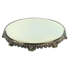 Large Jewelry Store Silver Plated Plateau - 1890's