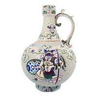 Large Moriage Handled Vase - 1920's