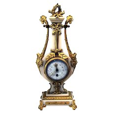 French Marble and Gilt Bronze Clock - 1870's