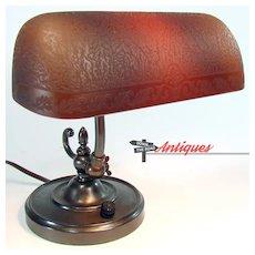Small Emeralite Desk Lamp - Rare - 1920's