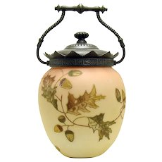 Mount Washington Burmese Glass Biscuit Jar - 1890's