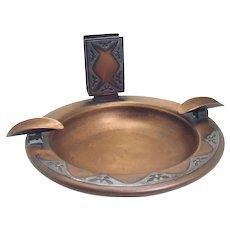 Bronze Heinz Art Metal Cigar and Match Holder