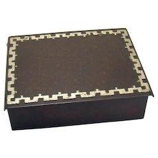 Heinz Art Metal Bronze and Sterling Dresser Box