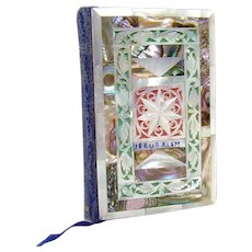 Carved Mother of Pearl Miniature New Testament Book - Early 1900's