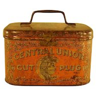 Central Union Cut Plug Tobacco Tin