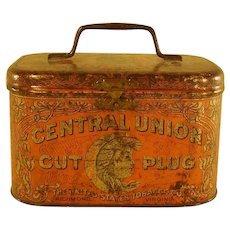 Central Union Cut Plug Tobacco Tin