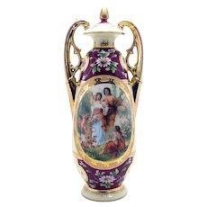 Signed Victoria Austria Porcelain Vase - 1905