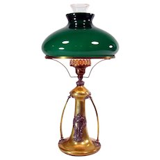 Art Nouveau and Emeralite Table Lamp - 1890's