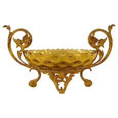 Amber Glass and Gargoyles Compote - 1890's