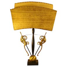 Large Moderne Table Lamp with Fiberglass Shade - 1950's